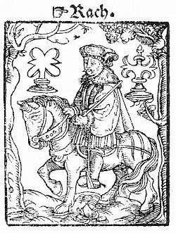 The rook from the Kobel edition of Mendel's Schachzabel