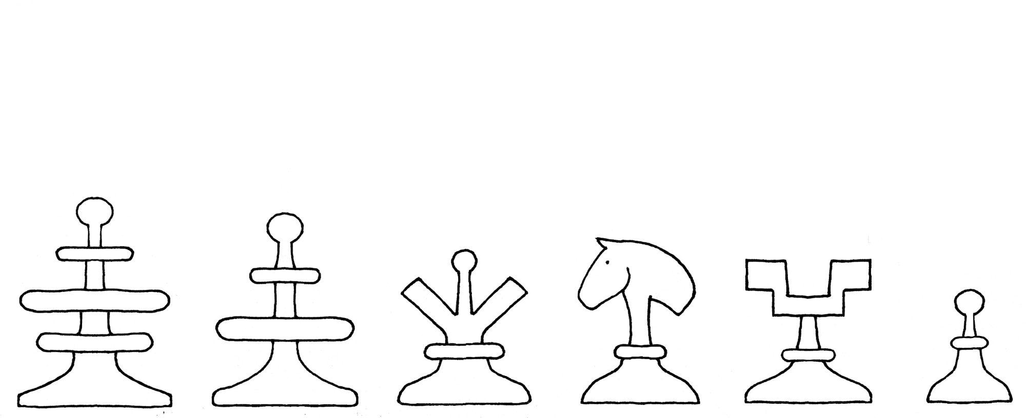 Damiano chess set interpretive diagram