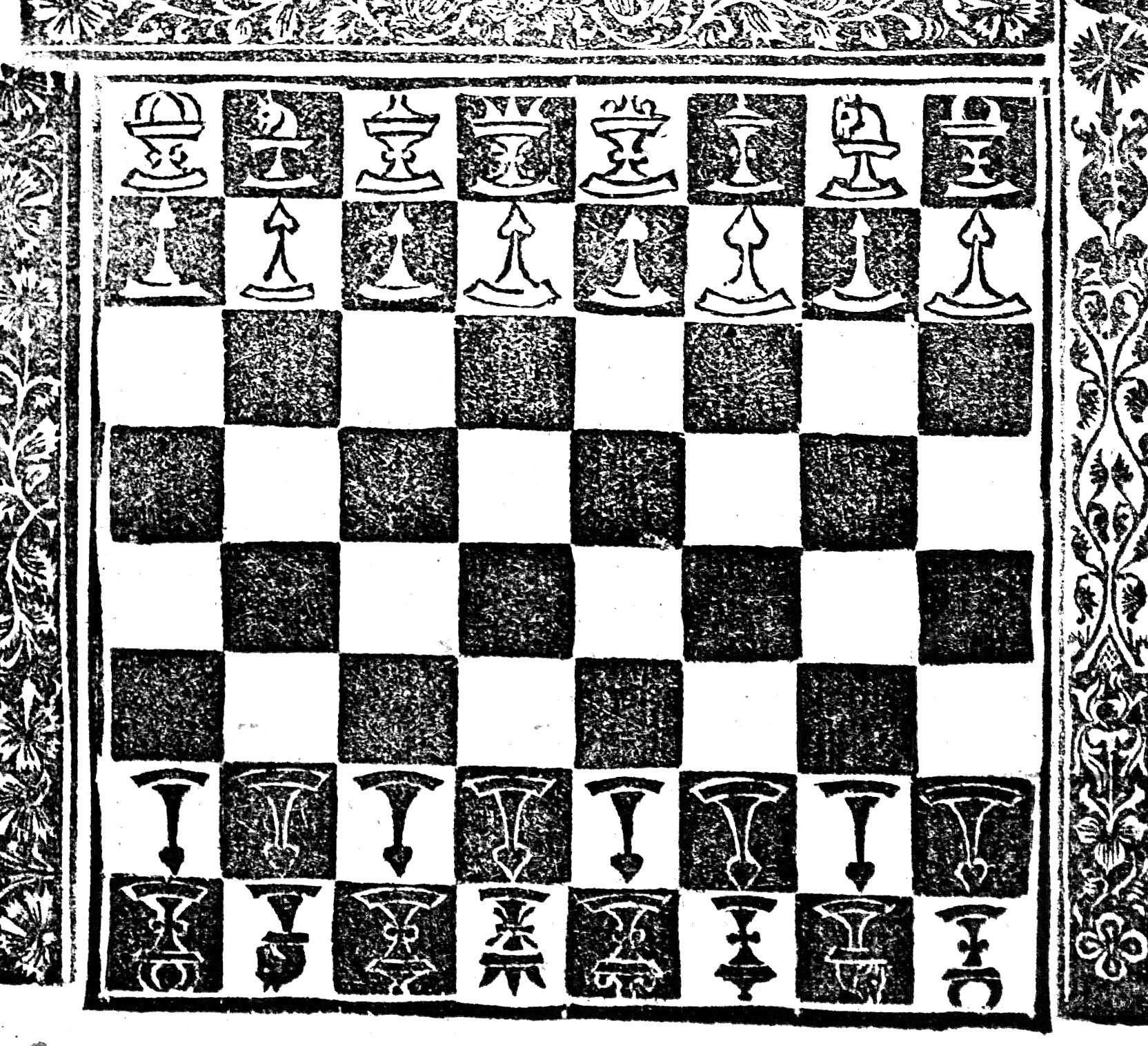 Lucena chess board, detail