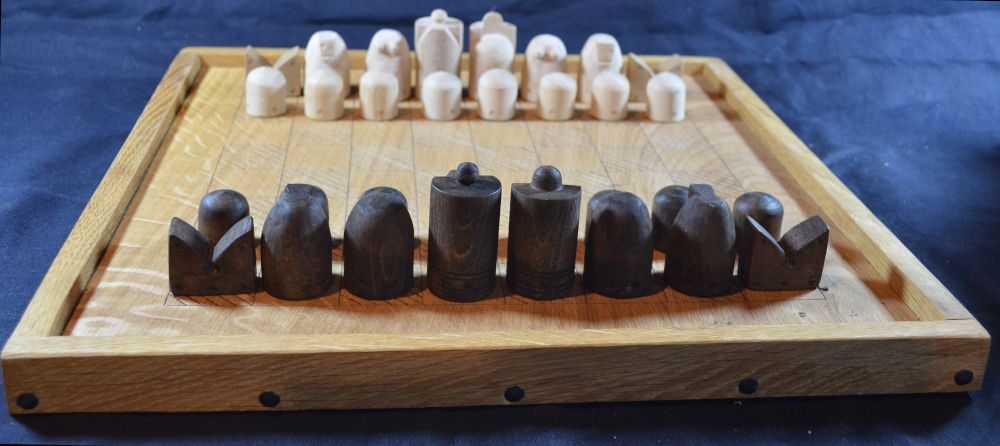 Reconstruction of an early medieval chess set