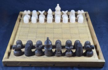 Caxton's fifteenth century chess pieces