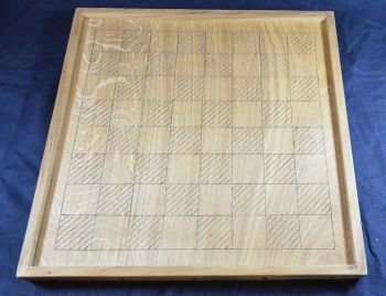 "Early medieval chess board, 1.75"" squares"