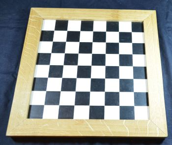 "Hand-painted historic chess board, 1.75"" squares"