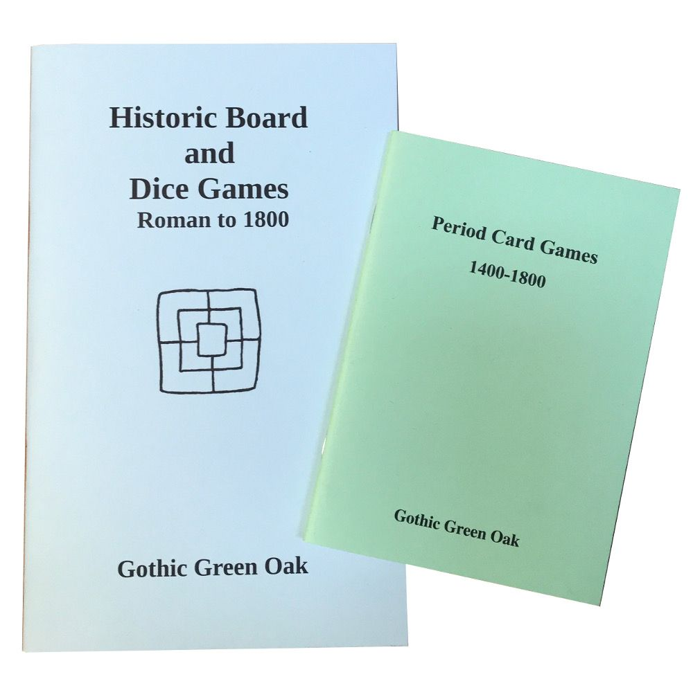 Two historic games rule books from Gothic Green Oak/The Historic Games Shop