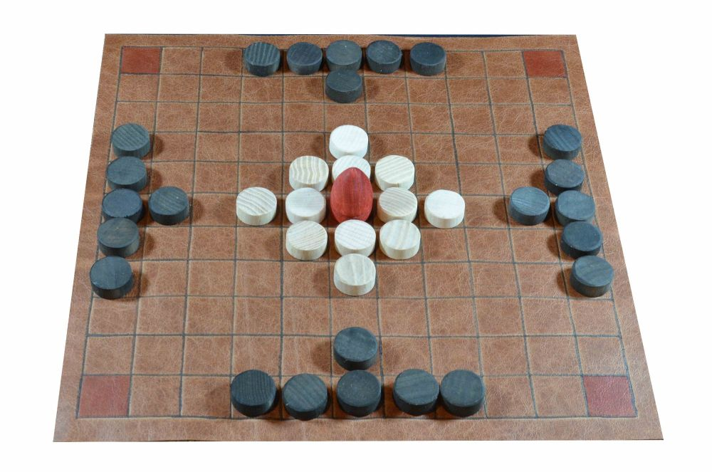 Leather version of the 11 x 11 tafl game