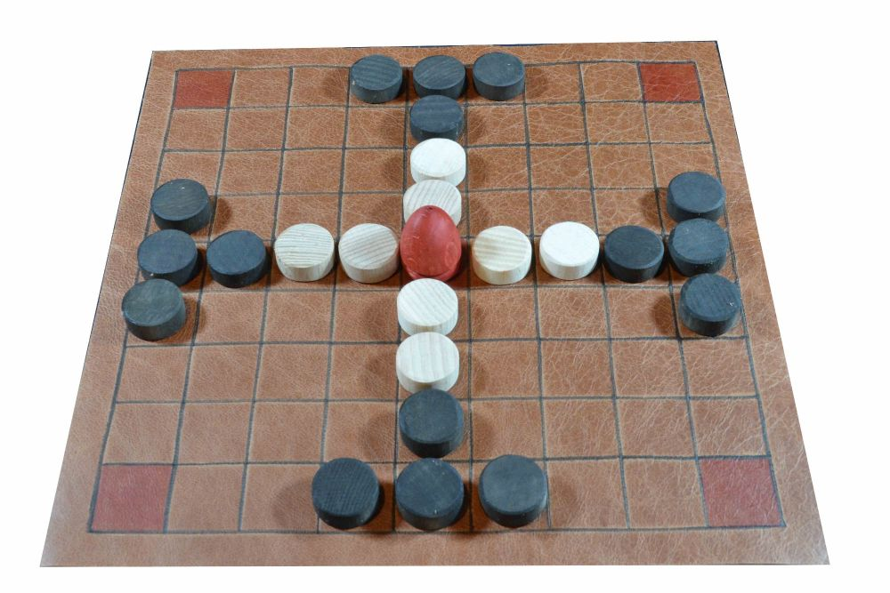 Leather version of the 9 x 9 tafl game