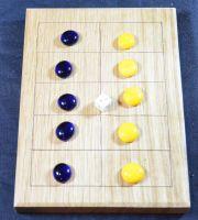Five Lines, wooden board