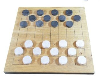 Tudor game board with Nine Men's Morris and Draughts