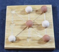 Three Men's Morris - oak board