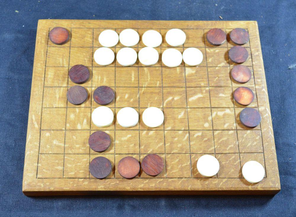 Oak Ludus Latrunculorum of 7 x 9 squares