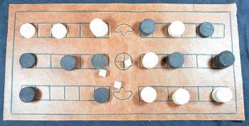 Duodecim Scripta  or Alea, leather board