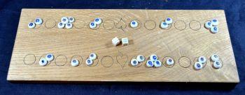Duodecim Scripta or Alea, 2-row oak board