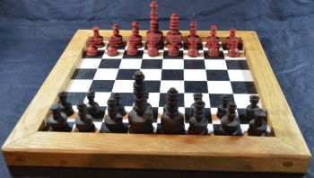 Eighteenth century French chess pieces