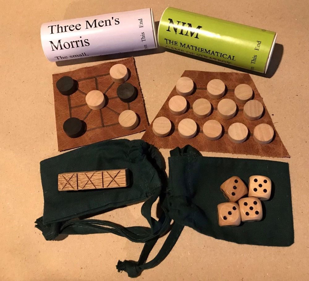 Small Games Collection with wooden dice