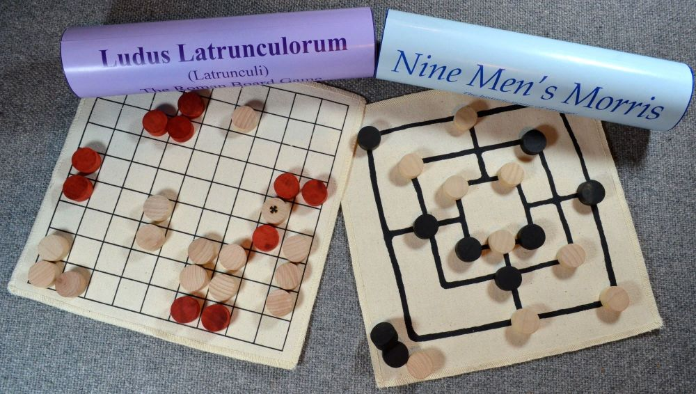 Roman Board Games – Ludus Latrunculorum and Nine Men's Morris