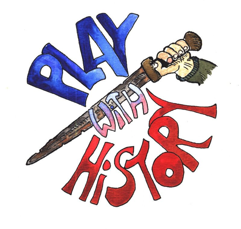 Play With History logo and button to visit the Play With History department of the shop