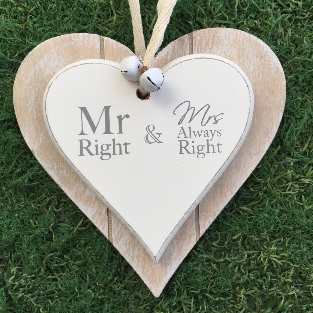 Mr Right & Mrs Always Right Heart