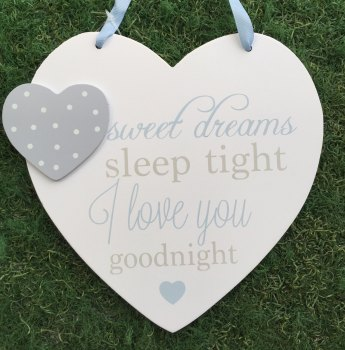 Baby Sweet Dreams Large Heart