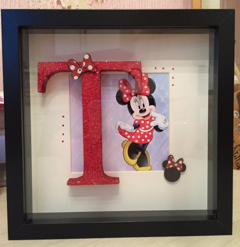 Framed Initial (Girls)