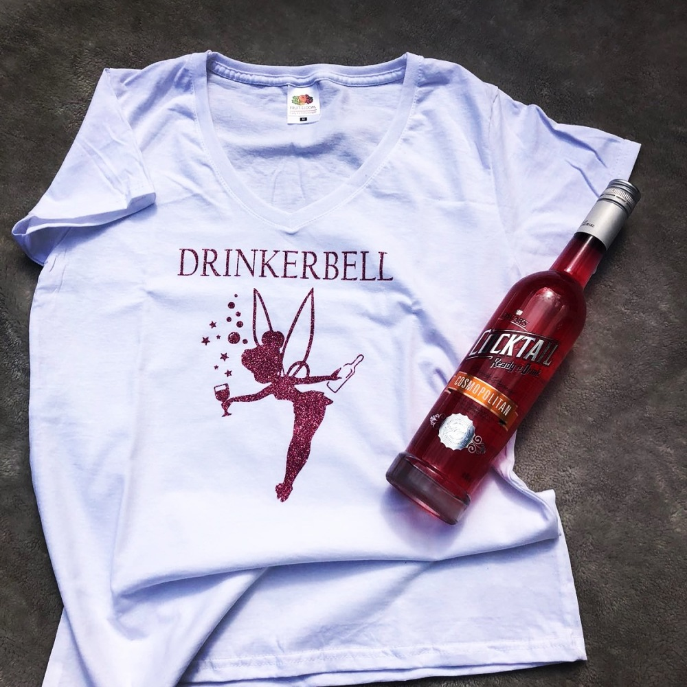Drinkerbell T-Shirt (Adults Fitted Round Neck)