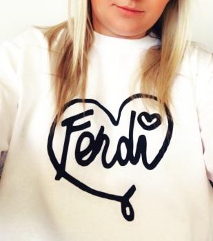 Fendi Heart T-shirt (Adult Fitted Round Neck)