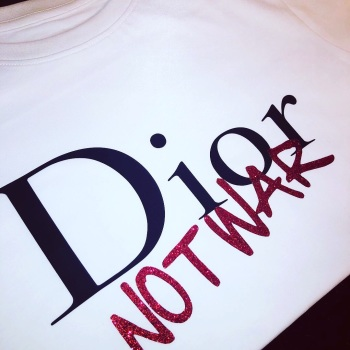 Dior Not War T-shirt (Adults Fitted Round Neck)