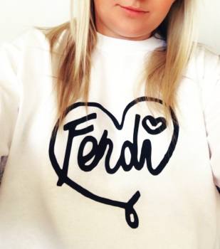 Fendi Heart T-shirt