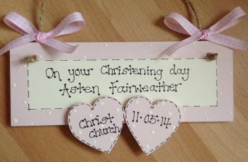 On Your Christening Day Pink