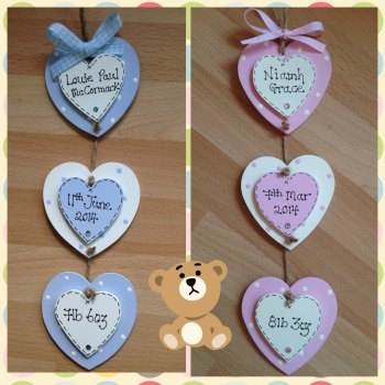 Hanging Hearts Keepsake