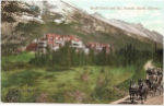 Canada: Alberta Province. Banff Hotel and Mt Rundle, Banff. Early 1900s Postcard