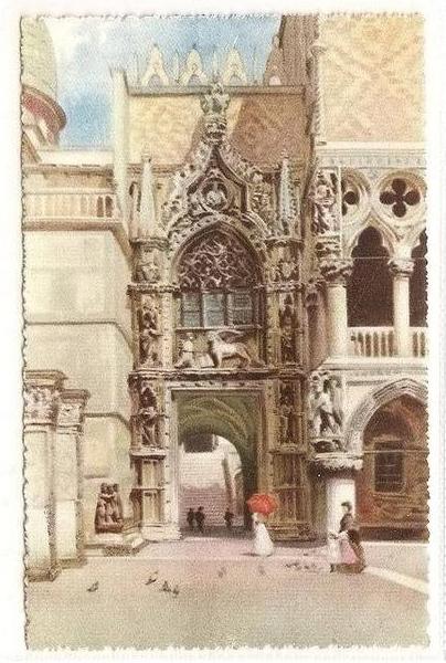 Italy, Venice, Venezia - Porta della Carta, Card No 4338-7