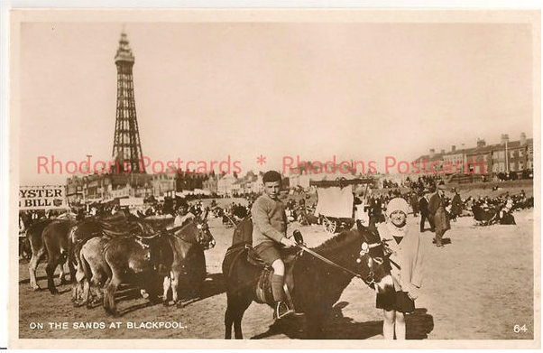 Lancashire: Blackpool - On The Sands At Blackpool, Circa 1930s