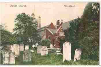 England: London. Woodford Parish Church, London. Early 1900s Postcard