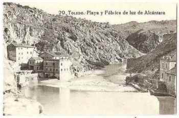 Spain: Toledo, Playa y Fabrica de luz de Alcantara. Early 1900s Postcard