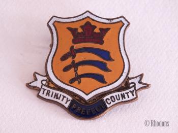 Enamel Prefect Badge, Trinity County Shield, School / University