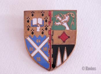 Vintage Scottish University Arms Enamel Shield Badge