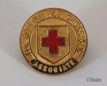 British Red Cross Society Associate Gilt Enamel Lapel Pin Badge