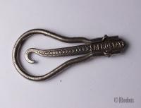 Antique Folding Button Hook, Glove / Shoe Buttonhook, French Aerostat Brand