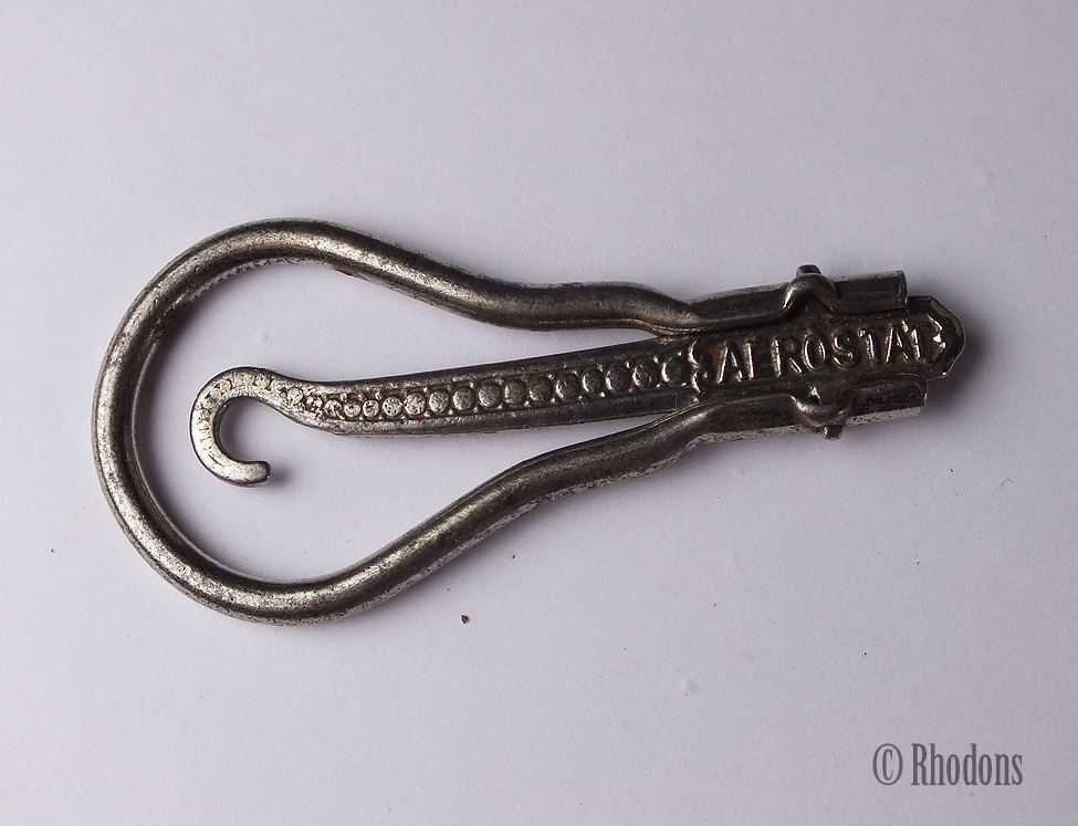 Antique Folding Button Hook, Glove / Shoe Buttonhook, French Aerostat Brand