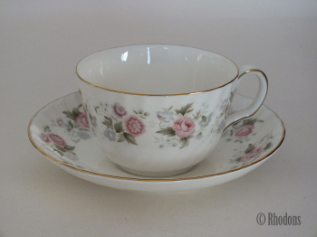 Minton Spring Bouquet Tea Cup and Saucer