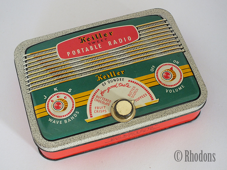 Vintage Keiller Portable Radio Locking Sweets Tin, Circa 1960s