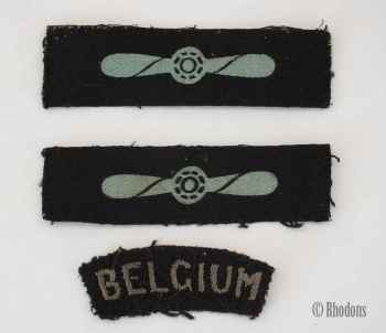 Belgium Military / Airforce Cloth Patches x3