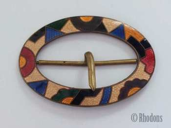 Cloisonne Enamel Dress Buckle