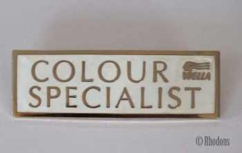 Wella Colour Specialist Advertising Enamel Badge