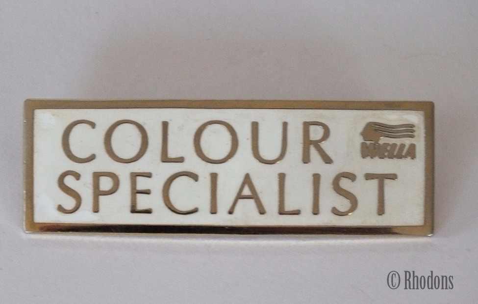 Wella Colour Specialist Advertising Enamel Badge