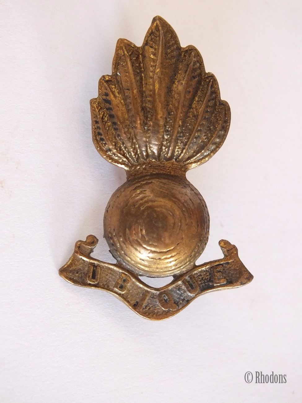 Royal Engineers Corps Ubique Collar Badge British