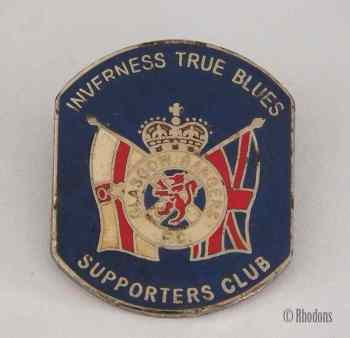 Glasgow Rangers F C - Inverness True Blues Supporters Club Badge
