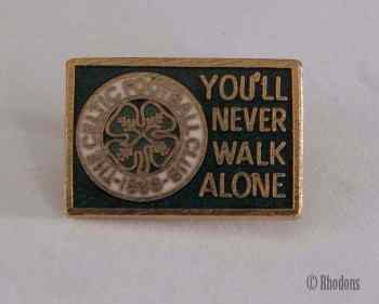 Glasgow Celtic Football Club. 'You'll Never Walk Alone' Supporters Club Pin Badge