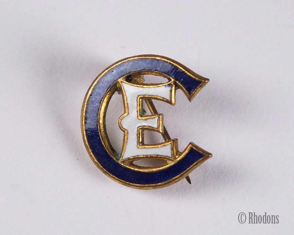 Church Of England Enamel Lapel Pin Badge Vintage Enamel
