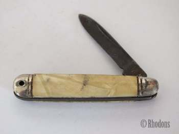 Small Richards Sheffield Penknife, Faux MOP Scales